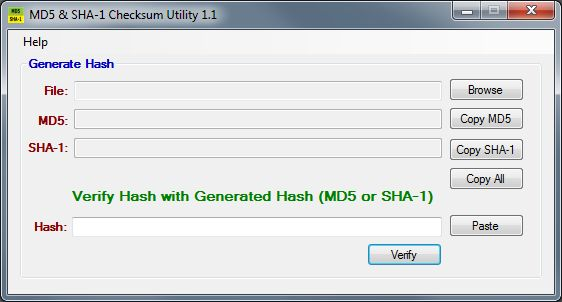 File Verification using MD5 Checksums on
