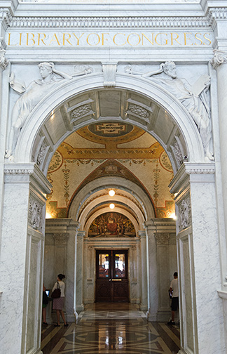 Library of Congress Archway: Photo by David Riecks